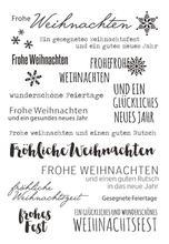 Timbres allemands en Silicone Transparent et clair, pour bricolage, Scrapbooking/fabrication de cartes, fournitures de décoration amusantes de noël pour enfants, A825