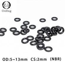 50PC/lot Rubber Ring Black NBR Sealing O-Ring OD5/5.5/6/6.5/7/8/8.5/9/10/10.5/11/11.5/12/13*2mm O Ring Seal Gaskets Oil Rings