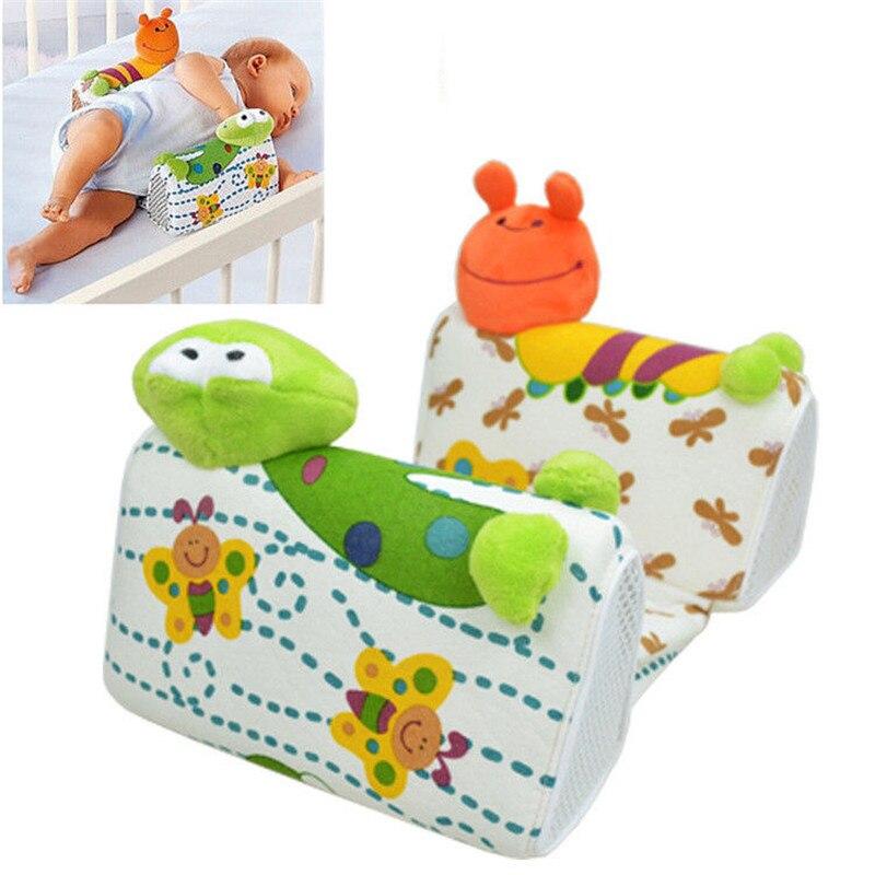 Подушка для сна для новорожденных с милой лягушкой из мультфильма, антироликовая подушка для предотвращения сна с плоской головкой, боковая подушка для сна Pro