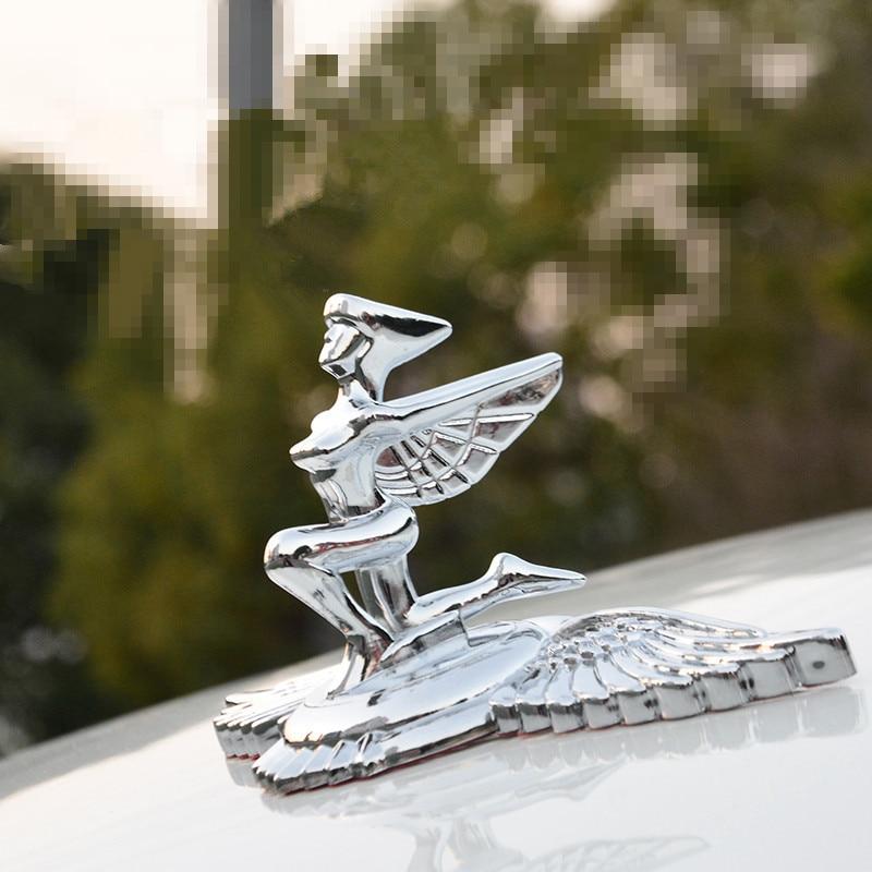 Car Standing Hood Bonnet Goddess Shape Emblem Decals For Cadillac Fiat Honda Mitsubishi Suzuki Auto Universal Decoration Styling