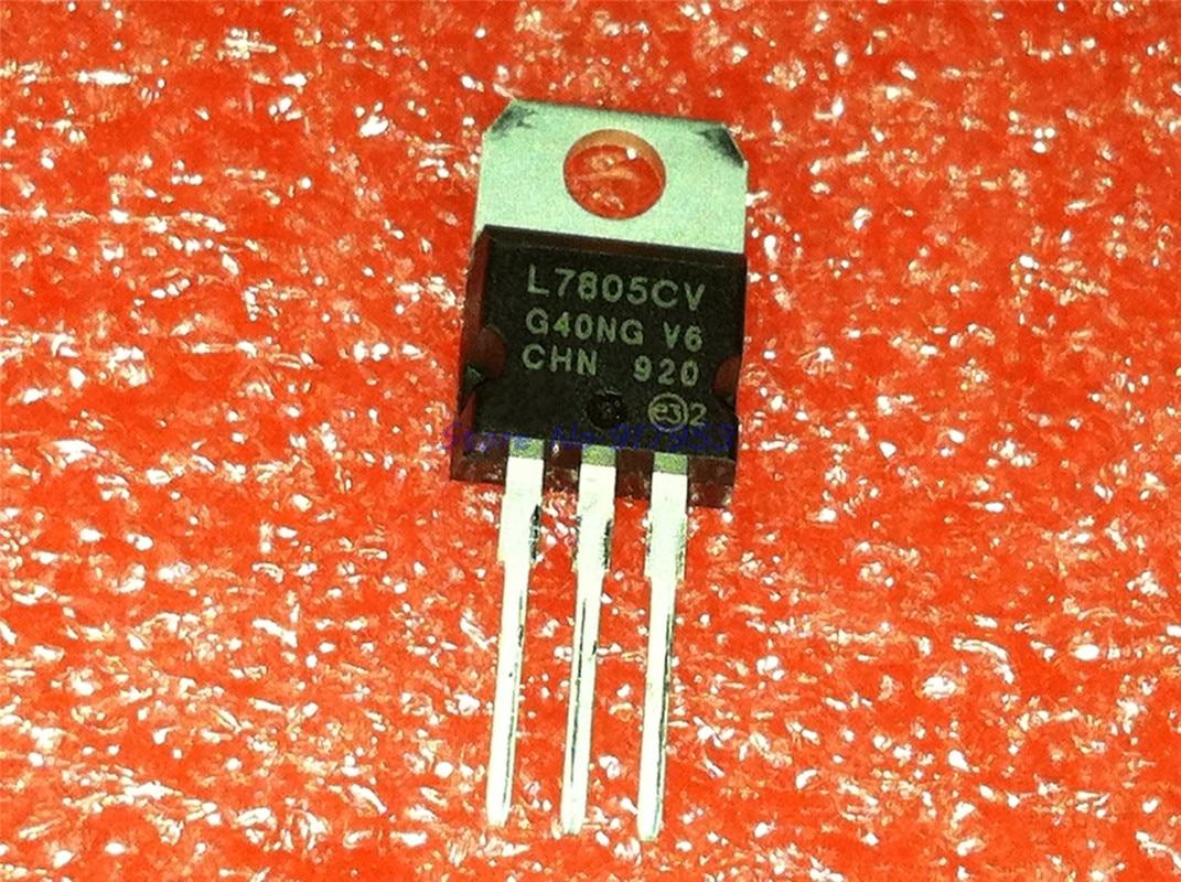 10 unids/lote L7805CV TO220 L7805-220 7805 LM7805 MC7805 en Stock