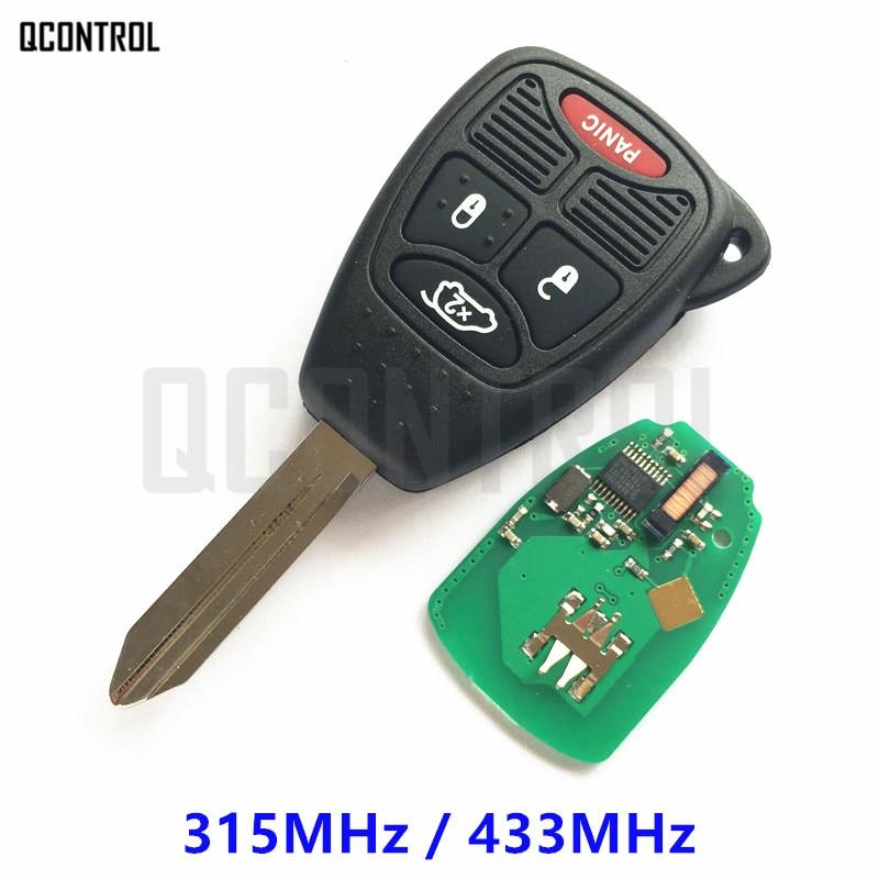 Llave remota QCONTROL con Chip para vehículo JEEP, Auto Liberty, Commander Wrangler, Compass Patriot, Grand Cherokee, cuchilla sin cortar