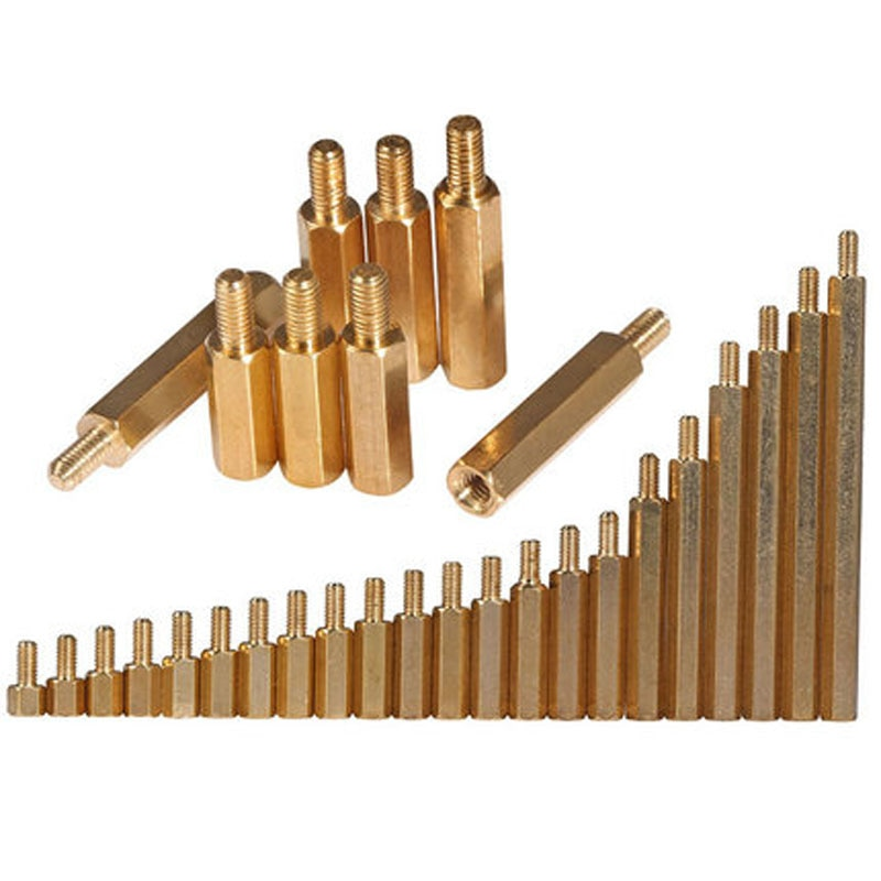 20 piezas M3 tornillo hexagonal de una sola cabeza de columna de cobre columnas hexagonales de aislamiento de 4mm-15mm de longitud