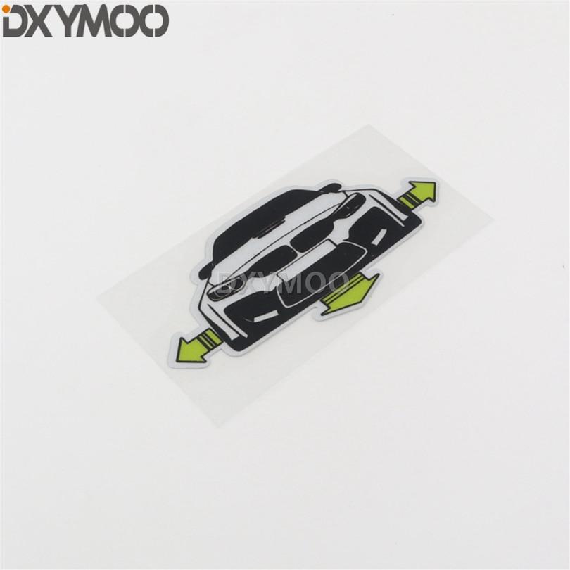 2 piezas etiqueta de vinilo de estilo de coche motocicleta cola de camión Ventana del cuerpo puerta de la cola pegatina parachoques para la postura del cuerpo 10x5 cm