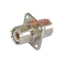 Bride 4 trous UHF SO-239 femelle à M femelle adaptateur baril convertir connecteur