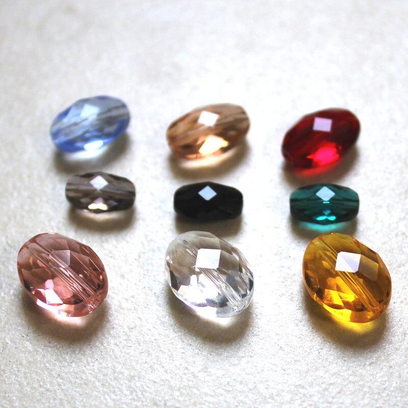 Çok Renkler DIY Cam Boncuk Fit Bilezikler Kolye için 11*8mm Avrupa oval boncuklar takı yapımı StreBelle Boncuk