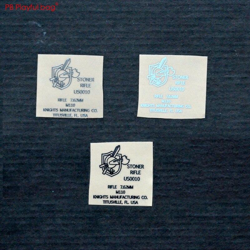 Diy cs hppy M110 spray gun metall aufkleber unter jinming acr für m4 spray gun metall aufkleber HK416 lehui ak74U NARBE QD21