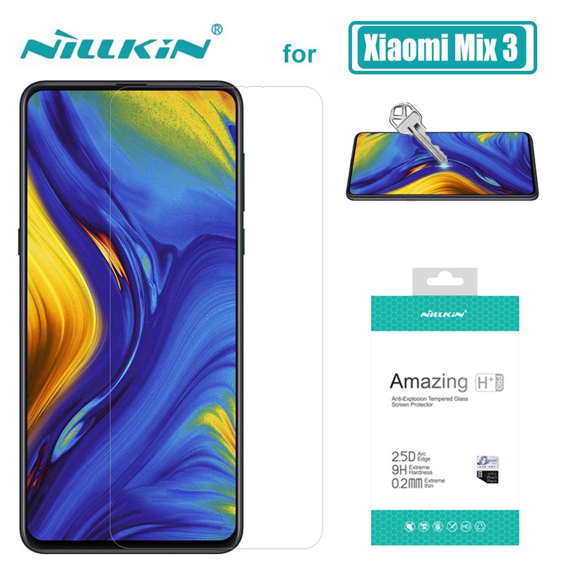 Xiaomi mi x 3 2 2S de Nillkin increíble 9H + Pro 2.5D protector de pantalla de vidrio templado para Xiaomi mi x3 mi x2 mi x2S cristal nilkin