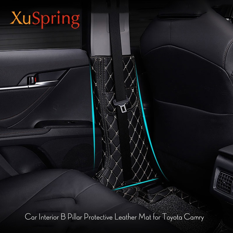 Coche estilizado B Pilar Anti-kick almohadilla protectora cojín funda pegatinas para Toyota Camry Daihatsu Altis 2017 2018 2019 XV70
