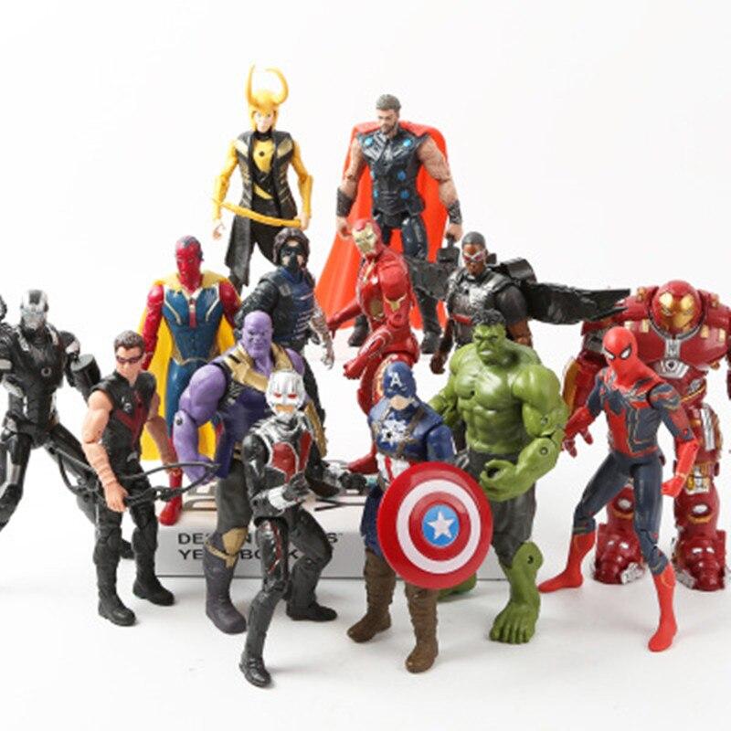 Los vengadores de Marvel 3 infinito película de guerra Anime superhéroes Capitán América Ironman Spiderman hulk thor superhéroe figuras de acción de juguete
