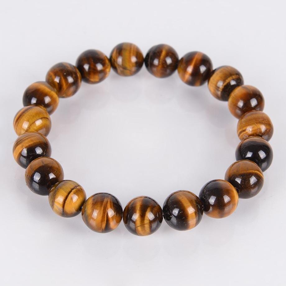 4 6 8 10 12MM naturalny klejnot kamień tygrysie oko szczęśliwe bransoletki i Bangles czerwone koraliki medytacja uzdrawiająca energia moda biżuteria B069