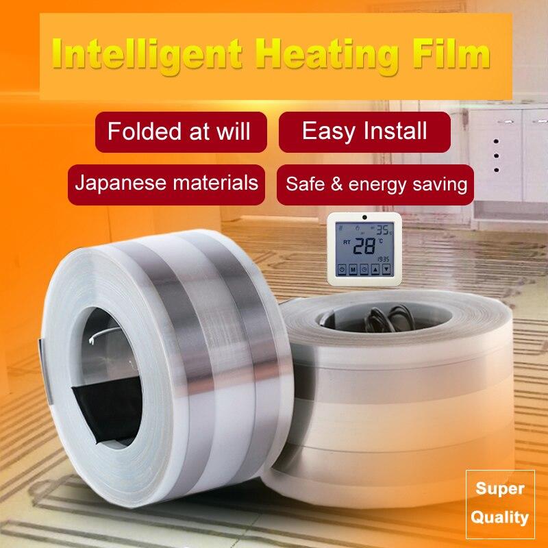 توصية بسيطة تركيب حزام تسخين الأرض صحي المنزل الاحترار 110 واط إلى 220 واط لكل متر مربع 220 فولت فيلم التدفئة