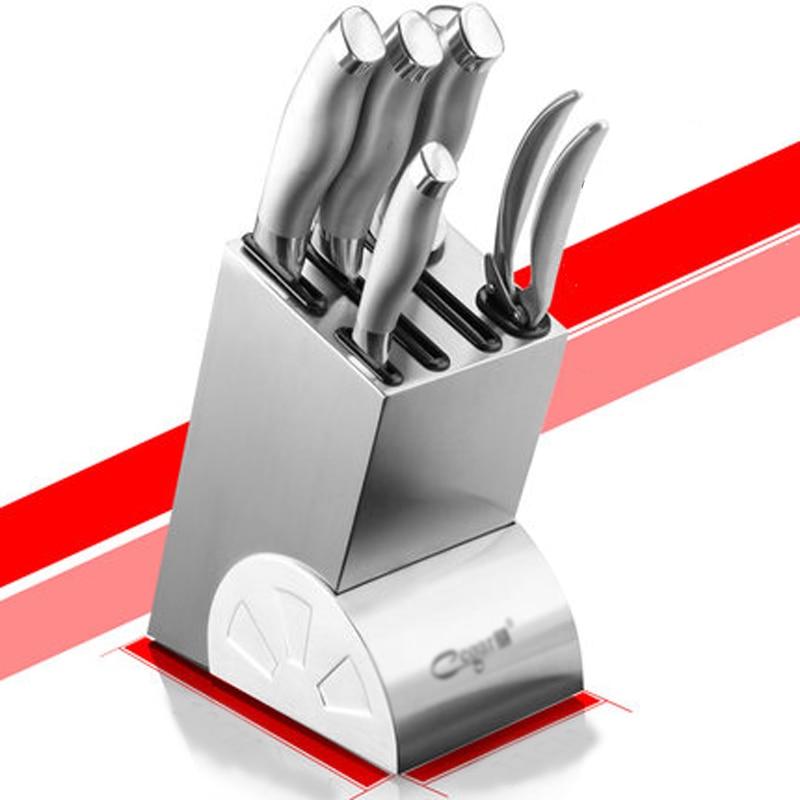 Porta cuchillos de cocina de acero inoxidable de alta calidad, accesorios para cuchillos, soporte de cerámica, bloque de cuchillos, soporte multifuncional para cuchillos