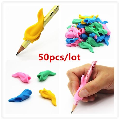 50 шт., эргономичная ручка-карандаш для мальчиков и девочек, универсальная ручка для рукописного письма, аксессуары для профессиональной тер...