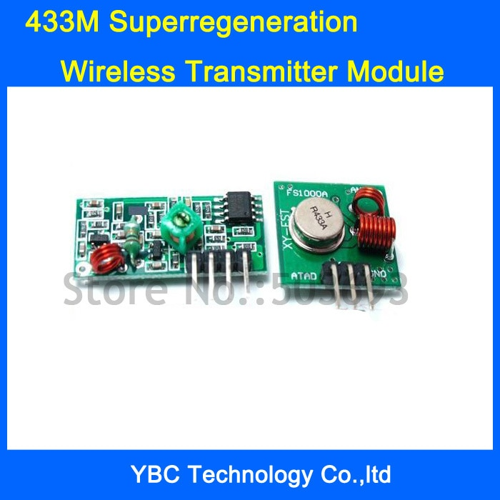 433M  20Pcs/10Pairs/Lot Superregeneration Wireless RF Transmitter Module Burglar Alarm and Receiver Module