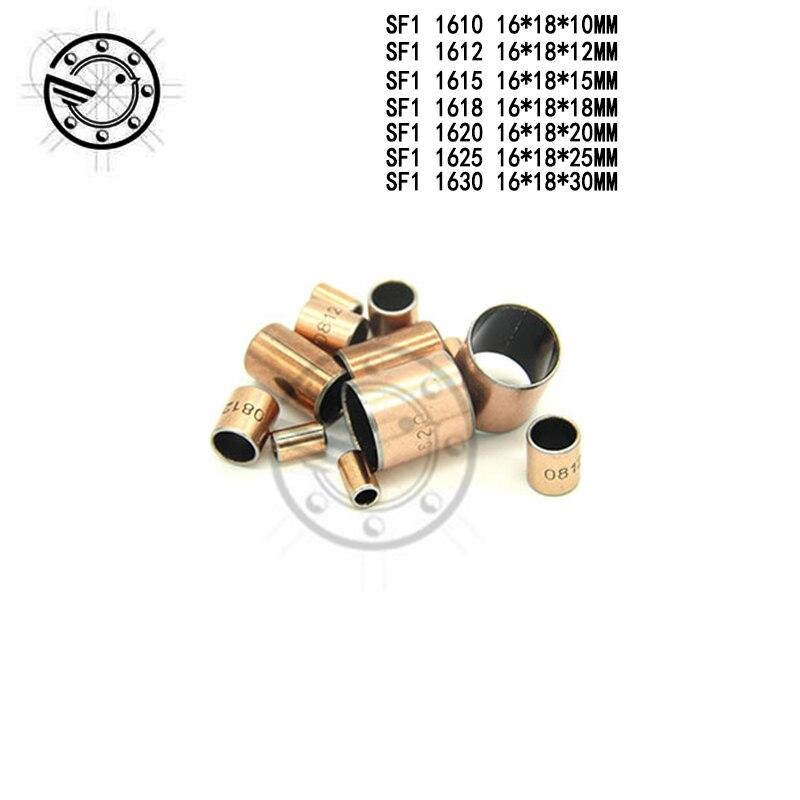 Envío gratis 10 Uds SF1 SF-1 1610, 1612, 1615, 1618, 1620, 1625, 1630 lubricante camisa de buje de cojinete compuesto 16*18*20mm