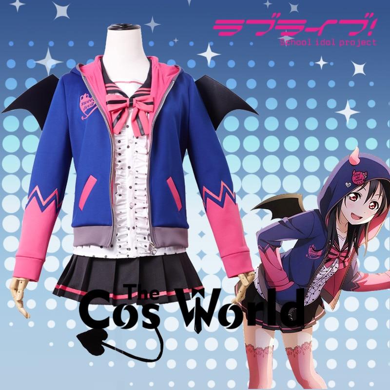 Love Live School Idol Project Yazawa Nico Bat Little Devil Demon Fancy Dress Uniform Outfit Anime Cosplay Costumes