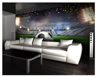 beibehang papel de parede 3d home decoration painting fashion wall paper hd huge football field 3d background wall 3d wallpaper