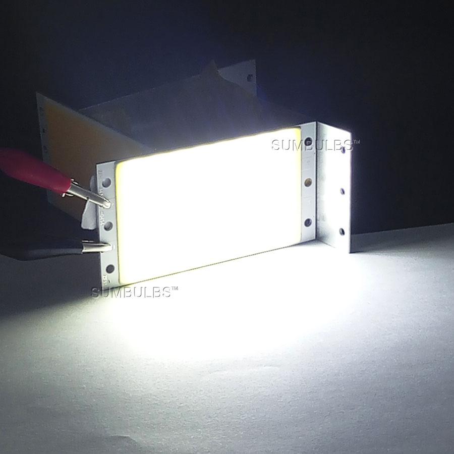 Sumbulbs DIY LED Panel Light 94x50MM 1500LM Ultra Bright Warm Natural Cold White Blue DC 12V 15W COB Board LED Lamp