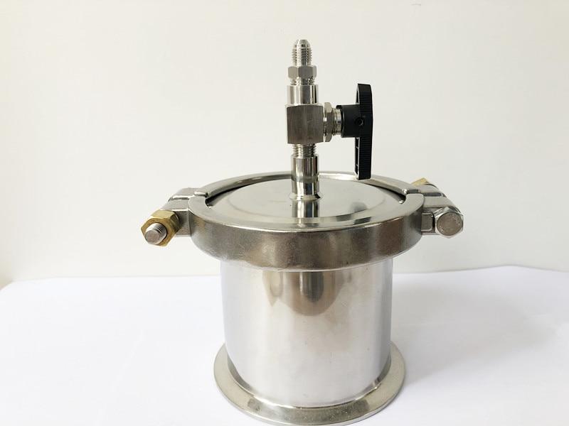 مستخرج BHO ذو حلقة مغلقة 4 بوصات × 4 بوصات من ثلاثي المشبك عالي الضغط OD119 ، بطول 4 بوصات (100 مللي متر) ، خزان استرداد SS304