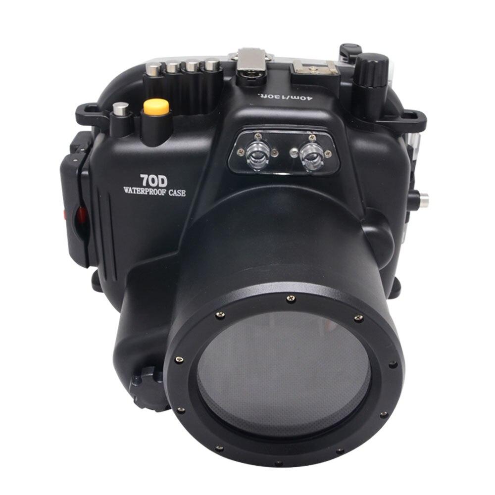 Mcoplus 40M impermeable Cámara subacuática funda carcasa para Canon EOS 70D 18-135mm lente