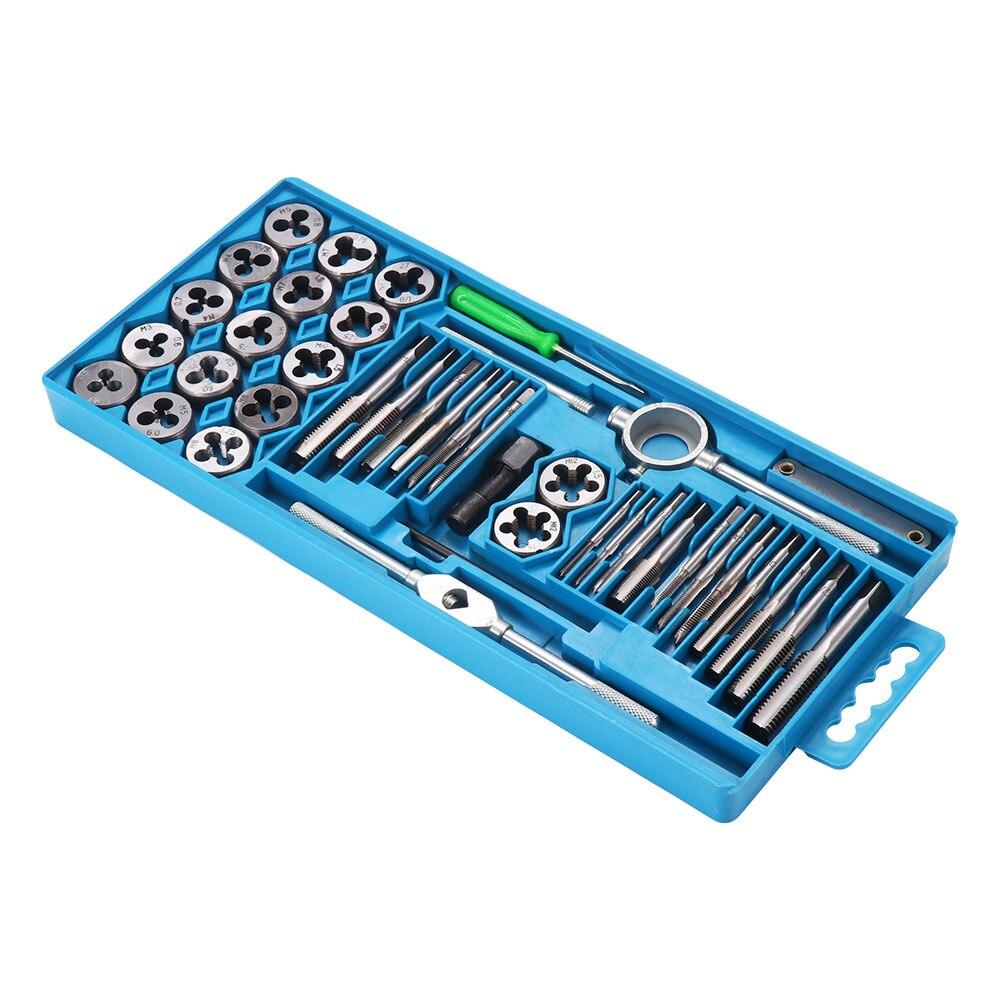 20/40 Uds llave de grifo Manual métrica Juego de puntas de destornillador M3-M12 herramienta de Grifo y die set llave de rosca
