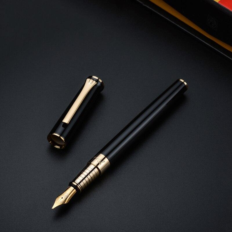Pluma de tinta de punta fina de iridio Picasso POLO pluma de metal, caja de regalo de tres colores opcional, bolígrafo de regalo de escritura para oficina, negocios, escuela
