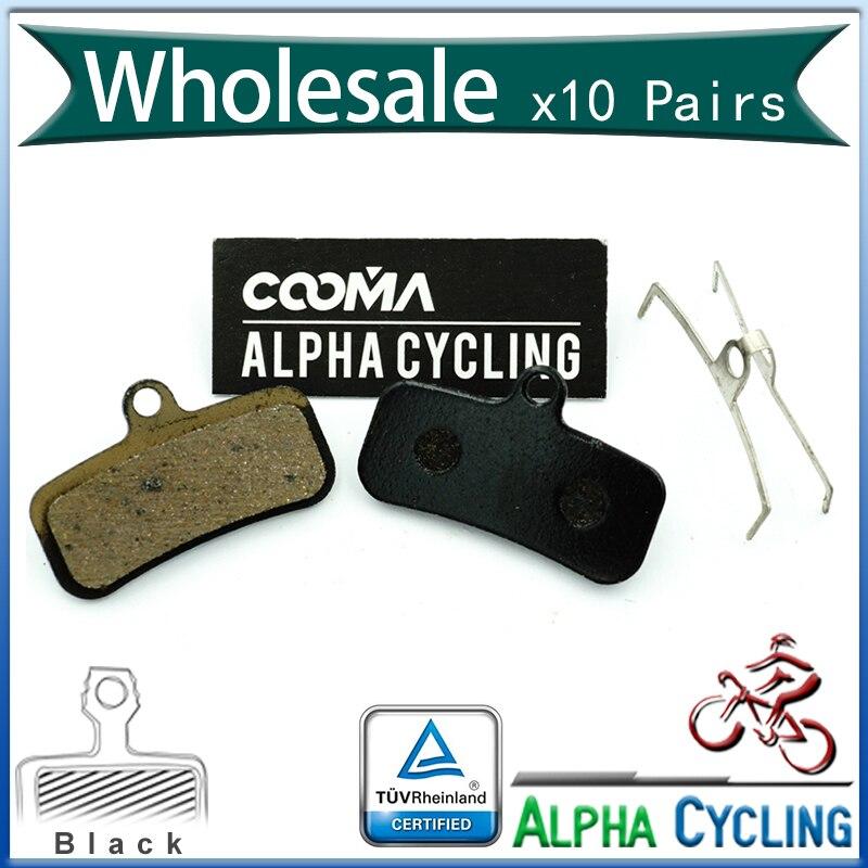 Pastillas de freno de disco de bicicleta para SHIMANO ZEE SAINT, M640, M810, M820 freno de disco, resina negra, 10 pares, BP018