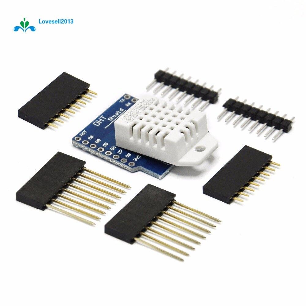 DHT22 Shield para WeMos D1 mini sensor digital de temperatura y humedad CA