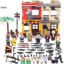 Jeu militaire PUBG MOC champs de bataille scènes bataille Lion ville logement quartier batisbriques bloc de construction armée chiffres briques jouets