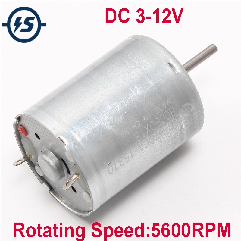 DC 3-12V RF-370 Motor With High Speed Mute Electric Motors For Airplane Model Aeromodelling DIY 5600RPM RF-370CA-15370