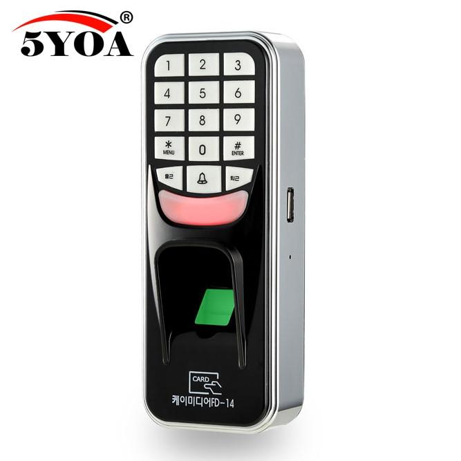 5YOA 5YBM1A huella digital contraseña llave bloqueo Máquina de control de acceso biométrico cerradura electrónica RFID lector escáner sistema
