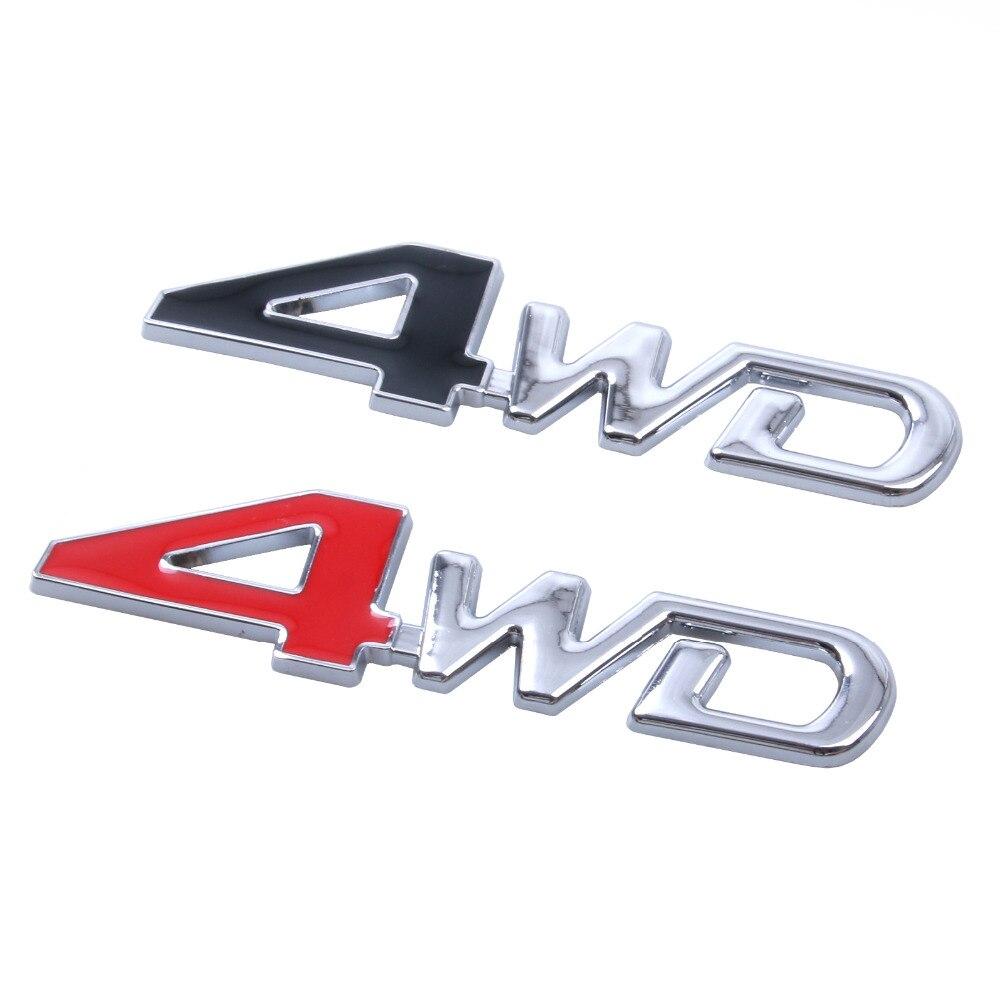 Автомобильный Стайлинг 3D хромированный металлический стикер 4WD эмблема 4X4 значок наклейка внедорожник задний багажник внедорожный для Toyota ...