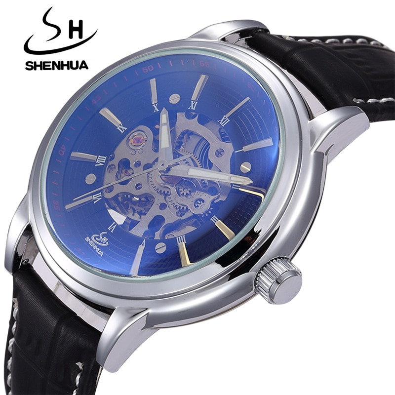 Mechanical Men Watches Top Luxury Brand SHENHUA Male Waterproof Clock Machinery Watches Automatic Se