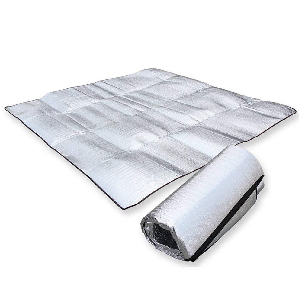 Papel de aluminio impermeable de aluminio papel manta de camping Eva plegable dormir Picnic en la playa colchón al aire libre Mat Pad 3 tamaño 100 ~ 200X200cm 25