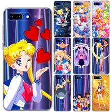 Kawaii Sailor Moon TPU Souple étui pour huawei Honor 9 10 Lite Vue 20 8X 8C 7A Y5 Y6 II Y3 Y7 2017 Y9 2018 2019 NOVA 4 3 3I Couverture