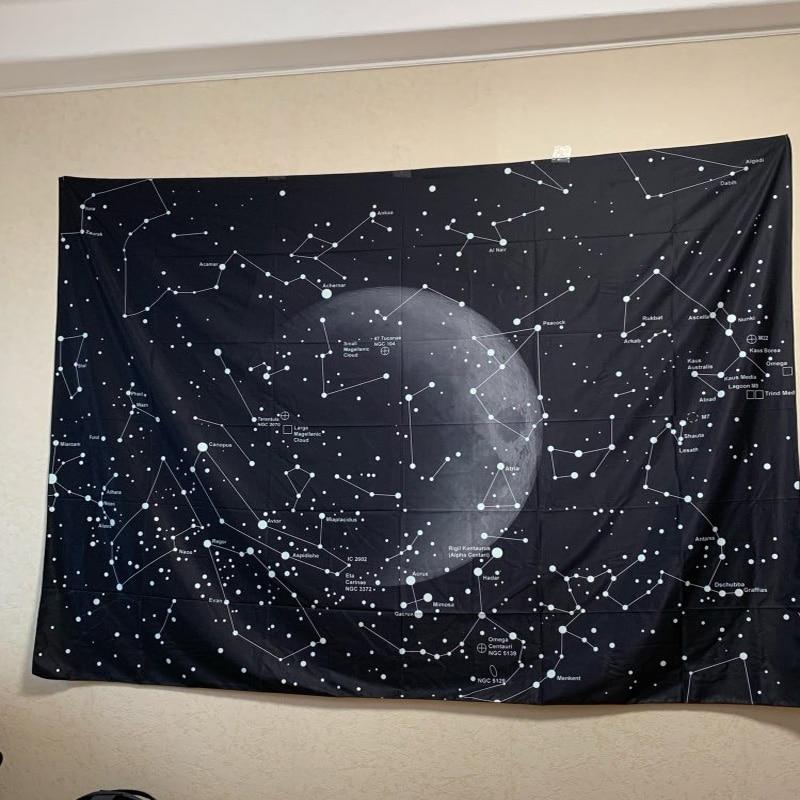 Enipate Psychedelic Созвездие Галактика космический узор гобелен настенный легкий вес полиэстер ткань настенный Декор для дома