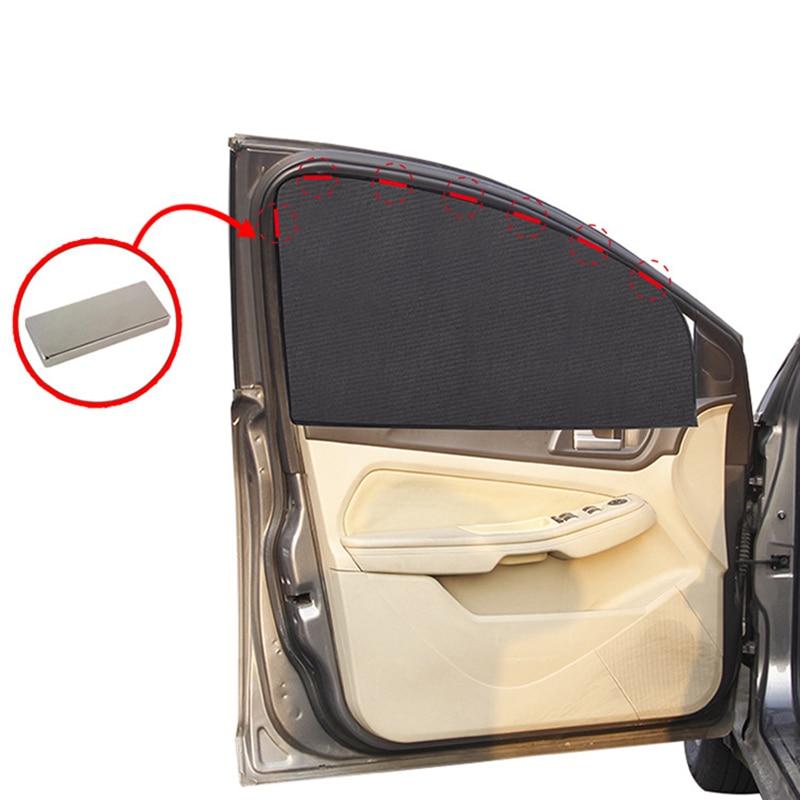 Carro magnético pára-sol malha cortina verão janela lateral sun sombra visão proteção do corpo uv blackout ímã pára-brisa do carro tule