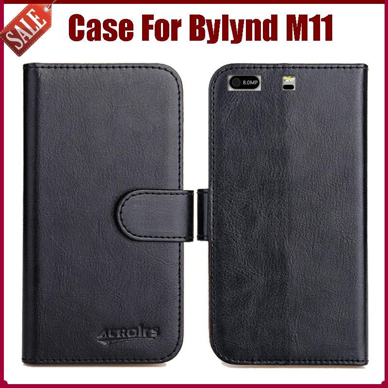 Offre spéciale! Bylynd M11 étui nouveauté 6 couleurs haute qualité Flip cuir housse de protection pour Bylynd M11 étui