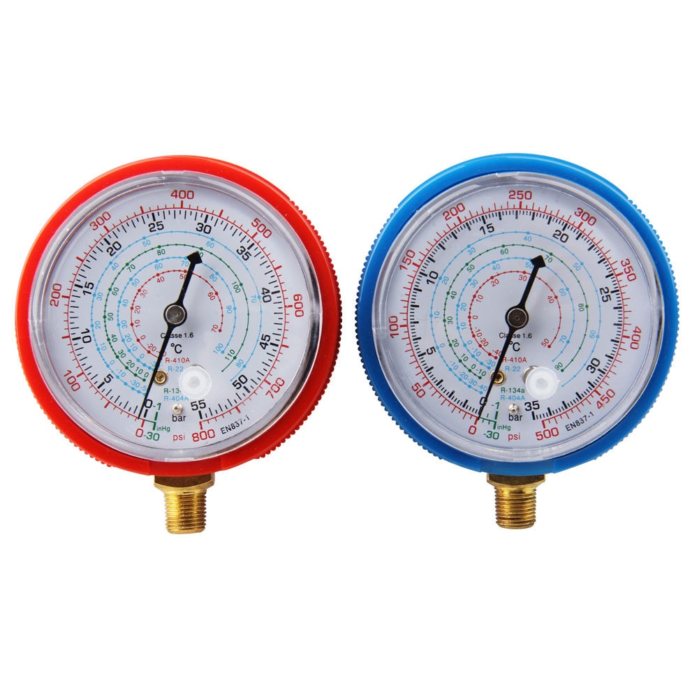 1 Pair Durable Pressure Gauge Car Diagnostic Tools Air Condition Manifold Auto Repair Quick Read Maintenance For R134a R404a R22