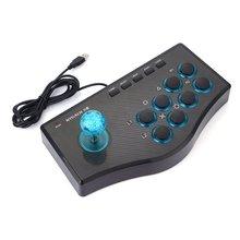 3 In 1 USB kablolu oyun denetleyicisi Arcade dövüş Joystick çubuk için PS3 bilgisayar PC Gamepad mühendislik tasarım oyun konsolu