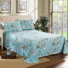 Decor Thuis Merk Lakens Bed Textiel Beddengoed Sprei Vlakke Plaat Bloem Bed Cover Laken Zachte Warme Lakens
