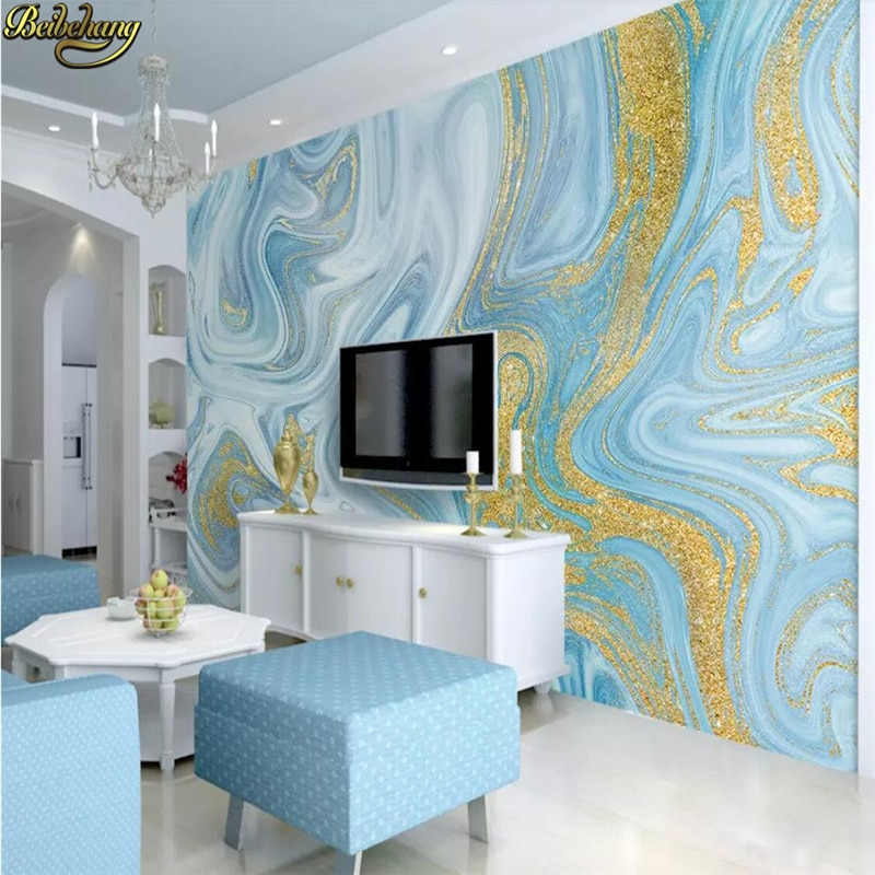 Beibehang, papel tapiz nórdico personalizado con imitación de mármol, Mural de pared, sala de estar, entrada de Hotel, sala de estar, fondo, decoración de papel de pared