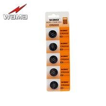 5 pcs/paquet Wama CR2032 pile bouton pièces Batteries BR2032 DL2032 EA2032C ECR2032 L2032 Lithium 3 V voiture batterie à distance