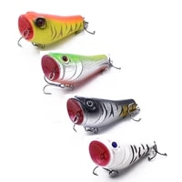 ningyo hime 4pc fishing topwater fishing lures popper lure 4colors artificial hard bait 7 4g 5cm crank baits tackle tool