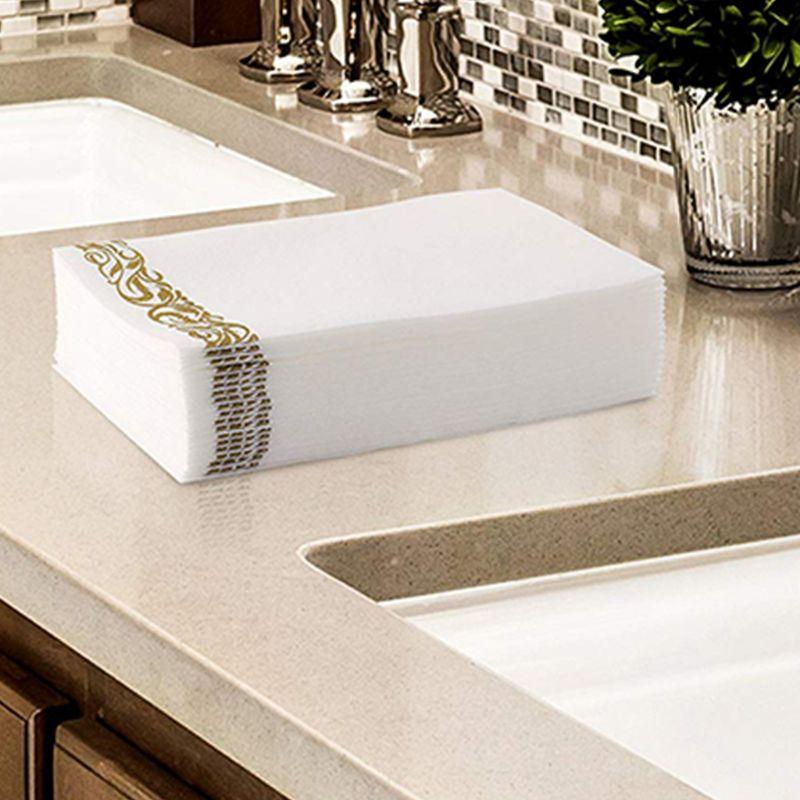 Toalhas de Mão Decorativos do Banheiro Macios e Absorventes-toalhas de Visitas do Papel da Sensação para a Cozinha Descartáveis Guardanapos Lençóis Partes & |