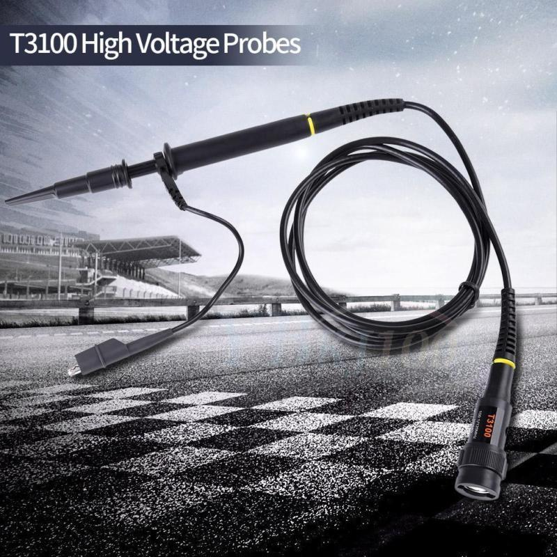T3100 Digitale Oscilloscoop Probe X1 X100 100Mhz High Voltage Osciloscopio Test Probes Accessoires
