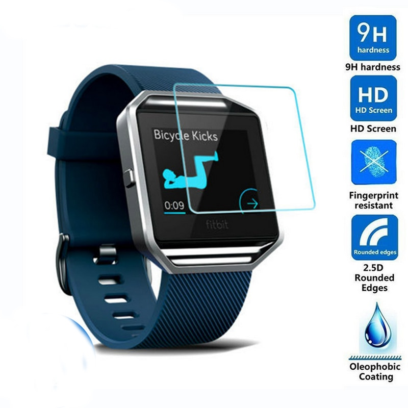 10 Uds Premium de cristal templado Protector de película Protector de pantalla para Fitbit Surge Blaze viceversa 2 Lite carga iónica 2 3