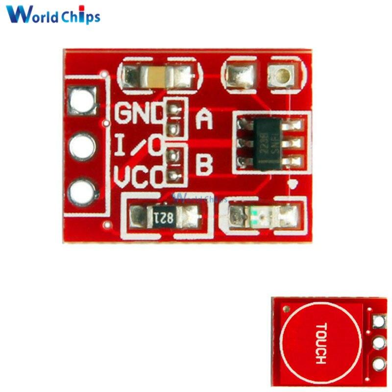 Módulo de interruptor de tecla táctil 5 uds TTP223 para Arduino botón de contacto con bloqueo automático/Interruptores capacitivos sin bloqueo