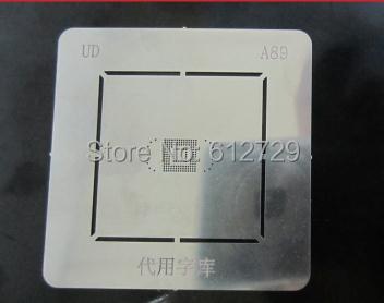 2 pçs/lote A89 Solda BGA reballing template stencil para samsung I9300 N7100 N8000 EMMC BGA153 BGA169